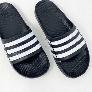 NIB Adidas Duramo Three Stripe Slides Sz 9